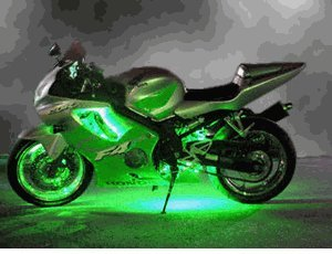 Twin 25cm Led Neon Lights Suitable For Bike Moped