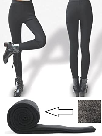 ... Stretchy Thick Leggings Solid Tights Warmer Opaque Black Review