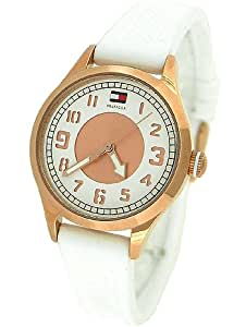 Tommy Hilfiger Watch, Women's White Silicone Strap 1781114