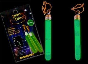 Dream Glow Clip On Earrings (Green)