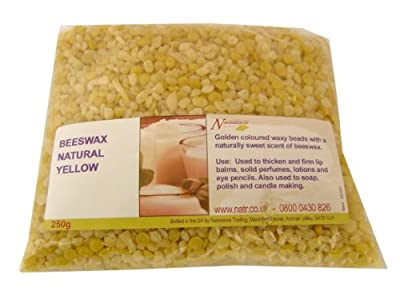 Beeswax Beads Natural Yellow 100g from eNaissance