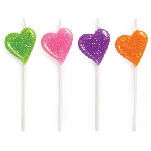 Hearts Pick Candles (4ct) - 1