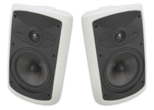 Niles 150 Watt All Weather High Performance Indoor & Outdoor Wall Mountable Natural Sound 2-Way Acoustic Suspension Speakers With A 7-Inch Carbon Fiber Woofer & Dispersion Stabilizer And A 1-Inch Teteron Tweeter + 100 Ft Speaker Wire - Compatible With All