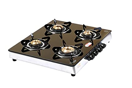 Glass Top Gas Cooktop (4 Burner)