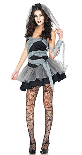 NonEcho Women's Ghost Bride Zombie Costume Halloween Outfit
