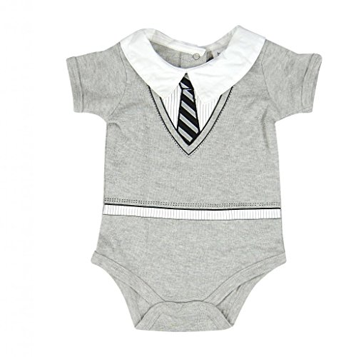Hope Balloon Baby Boy'S 2 Piece Sweater & Tie Creeper With Matching Socks 9 Months Grey
