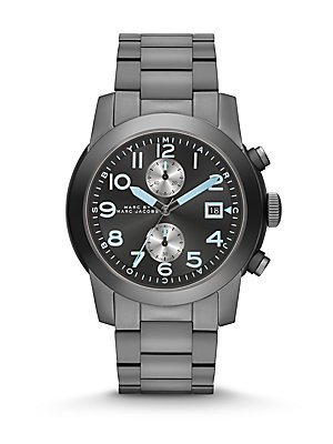 Marc by Marc Jacobs Larry Gunmetal Watch, 46mm