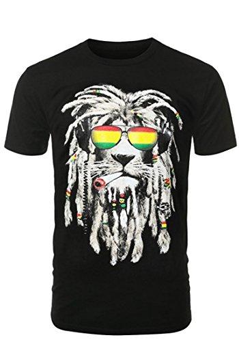 URBANCREWS-Mens-Hipster-Hip-Hop-Graphic-Print-Crewneck-T-shirt