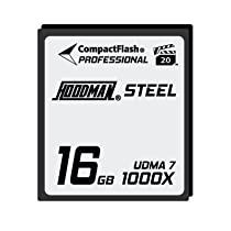 Hoodman RAW Steel Class 7 16GB CompactFlash Card, 1000x High Speed
