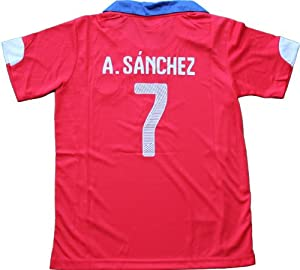 Buy 2014 CHILE HOME ALEXIS SANCHEZ 7 FOOTBALL SOCCER KIDS JERSEY by Chile