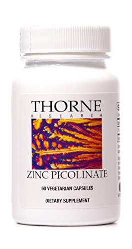 Thorne Research - Zinc Picolinate - Highly Absorbable Zinc Supplement - 60 Vegetarian Capsules
