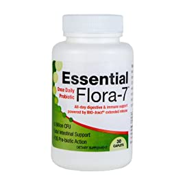 ★ Essential Flora-7 ★ Probiotics for Women & Men ★ 6 Billion CFU's ★ 10 Hour Time-Released Delivery Ensures Entire Intestine Is Protected ★ All-day Relief ★ Works in Just 30 Minutes ★ Unprecedented Bio-Tract Technology ★ 100% Money Back Guarantee ★ 24/7 Customer Service