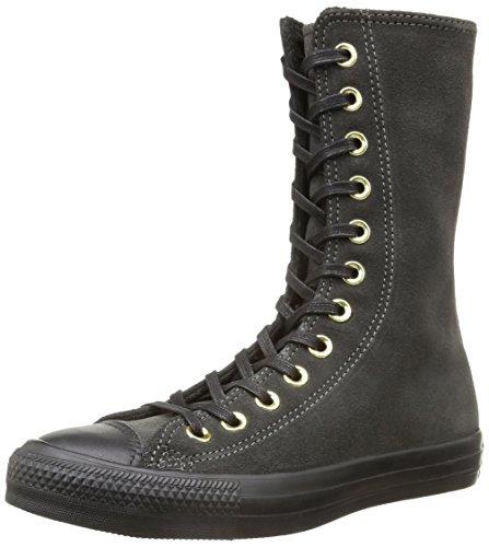 Converse, All Star X-Hi Zip Suede Sneaker,Donna, Grigio (Iron/Black), 38