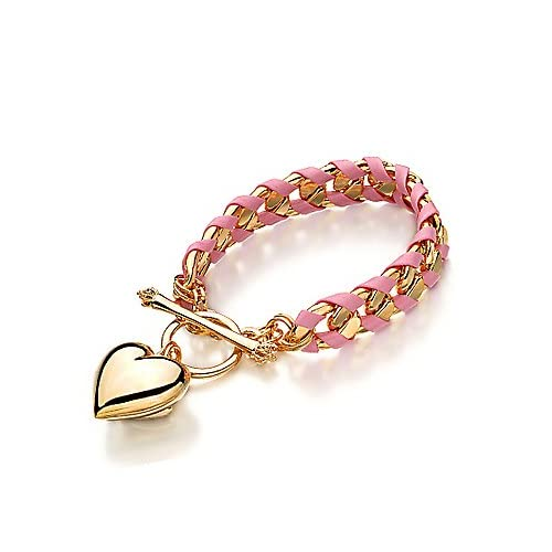 Juicy Couture Jewelry Banner Heart Crystal Earrings Pink Gold Jewelry