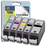 5 Cartouches d'encre Compatibles pour Imprimante Canon Pixma MP550 - Cyan / Jaune / Magenta / Noir- Avec Puce