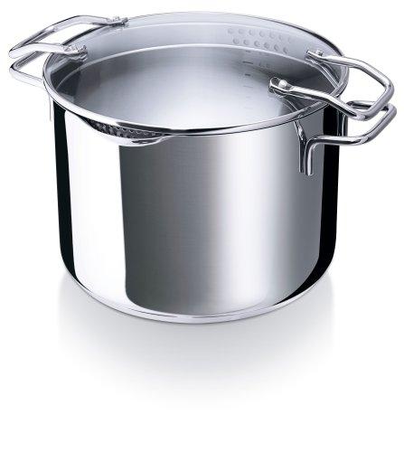 Cuiseur à Pâtes  7,6 L  inox 24 cm  EMPORO Capacité : 7,6  litres d'eau. Appareil composé de ...