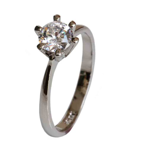 Fashion Plaza 18k White Gold Plated Use Swarovski Crystal Wedding Engagement Ring R62 Size 6