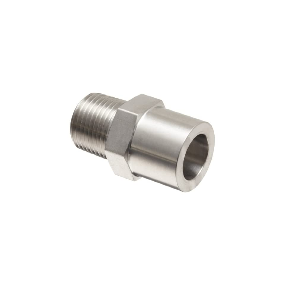 Parker Weld Lok 8 FW SS Stainless Steel 316 Socket Weld Tube Fitting, Connector, 1/2 Tube OD x 3/8 NPT Male, 0.41 Bore
