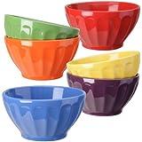 Signature Housewares Fluted Bowls, Assorted, Set of 6
