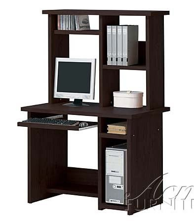 Black friday computer desk with hutch contemporary style in espresso finish cheap best price - Cheap black desks ...