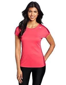 New Balance Damen Shirt Icefil Short Sleeve, raspberry, S, WRT2320RS