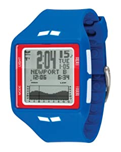 Vestal Men's BRG010 Brig Tide and Train Blue White Red Positive Digital Surf Watch