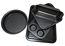 Bekith Kitchen Bake Nonstick 5-Piece Bakeware Set, Carbon Steel
