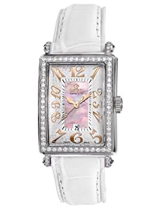 Gevril Women's 7248RV.1 Pink Mother-of-Pearl Genuine Alligator Strap Watch