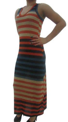 Stripe Dress Stretch length Sleeveless