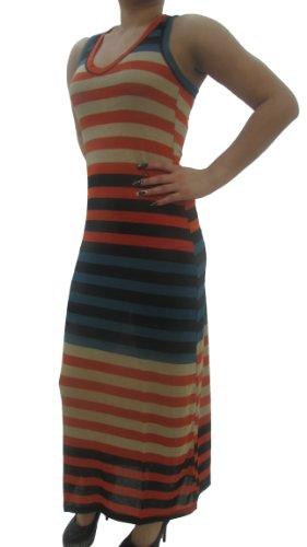 Stripe Dress Stretch length Sleeveless