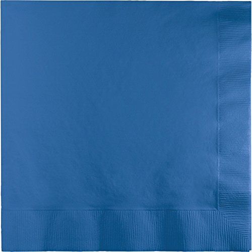 Creative Converting Value Pack Paper Beverage Napkins, True Blue, 150-Count