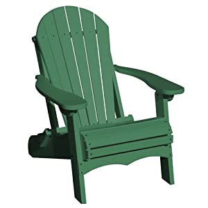 Vifah v1082 g recycled plastic folding adirondack chair green discontinued by - Green resin adirondack chairs ...