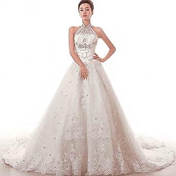 Aladdin 2015 White Wedding Dresses Organza Luxury Custom Made Bridal Dress US 16 White At Amazon