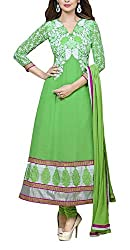The Magical Thread Women's Georgette Unstitched Dress Material (MR-DN070_Green_Free Size)