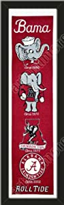Heritage Banner Of Alabama Crimson-Framed Awesome & Beautiful-Must For A... by Art and More, Davenport, IA