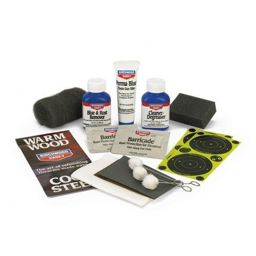 New Birchwood Casey Perma Blue Paste Gun Blue Sponge Clam Pack Kit Service Cloth Rust Remover