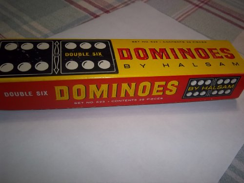 Vintage Halsam 28 Piece Domino Set