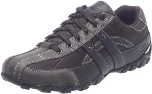 Skechers Men's Detonated Stingrays Chocolate Lace Up 62018 9 UK