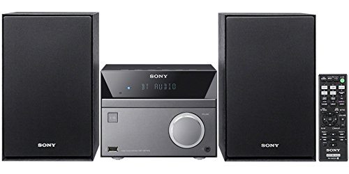 Sony Bluetooth Micro Home Theater System with NFC, MP3 CD/DVD Player, FM Radio Tuner, 20 Preset Stations, Alarm Clock, Sleep Timer, Equalizer, Mega Bass, Auxiliary Input Jack & Wireless Remote Control