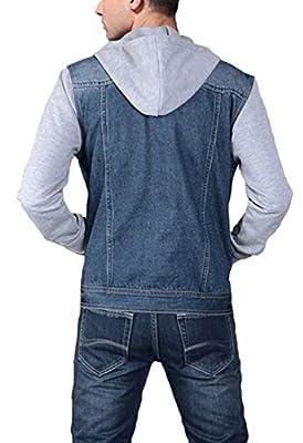 Camo Coll Men's Rugged Wear Denim Hoodie Jacket
