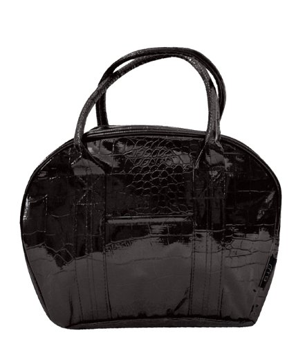 Two Lumps of Sugar Croc Bowler Lunch Bag, Mini, Brown - 1