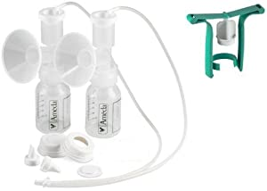 Ameda Purely Yours Replacement Parts Kit with One-Hand Manual Breastpump BPA FREE - STD (25 mm)