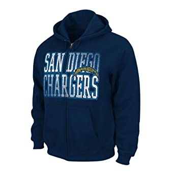 NFL San Diego Chargers Touchback V Full Zip Hoodie - Navy Blue by VF LSG