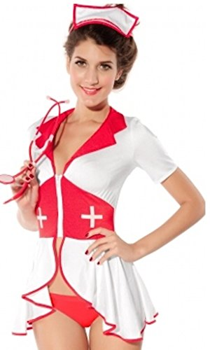 Cute Nurse Costume Uniform Fancy Dress Outfit