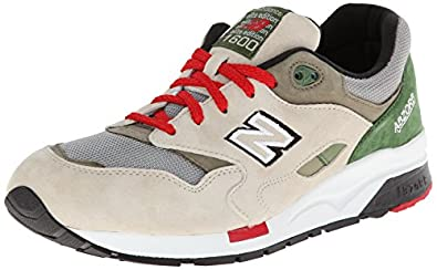 New Balance Men's CM1600 Classic Running Shoe,Grey/Green,10.5 D US