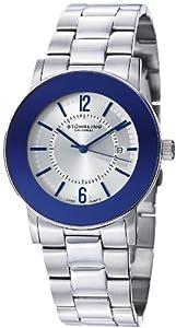 Stuhrling Original Men's 959G.33116 Classic Ascot  Paramount Swiss Quartz Ultra Slim Date Blue Bezel Watch