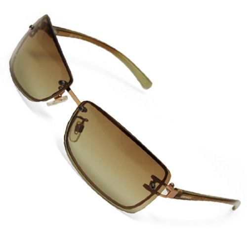 Como Brown Lens Arm Metal Frame Lady's Sports Fishing Sunglasses