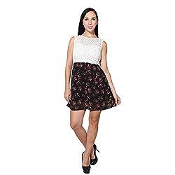 CJ15 Georgette print short dress for women