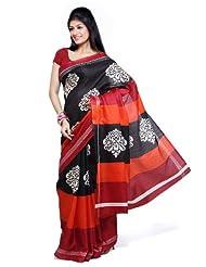 Ishin Bhagalpuri Silk Black Saree