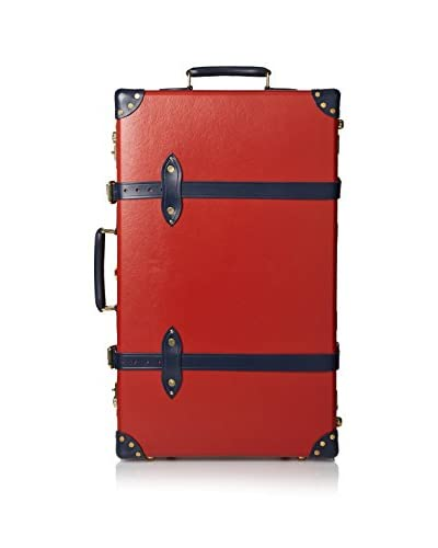 Globe-Trotter 28″ Centenary Trolley Case, Red/Navy